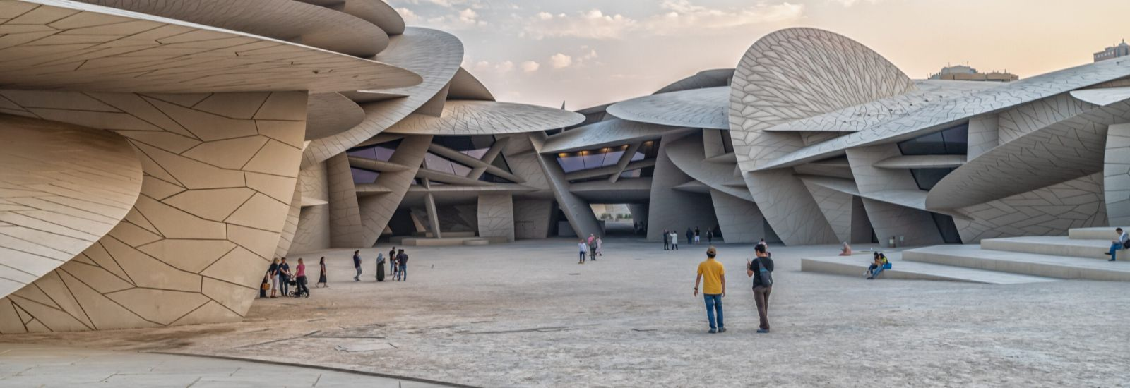 Exterior of the National Museum of Qatar - Modern, Disk Shaped Building