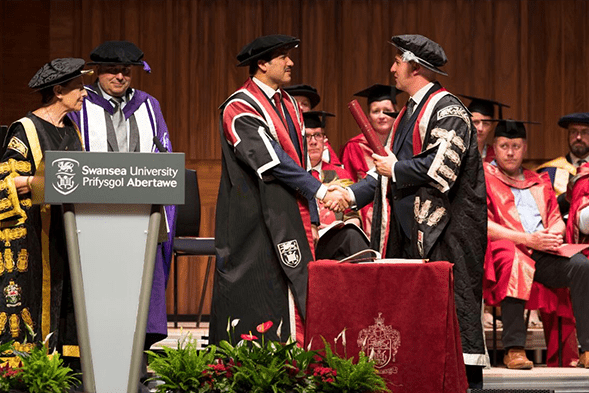 Chairman awarded Honorary Doctorate By Swansea University