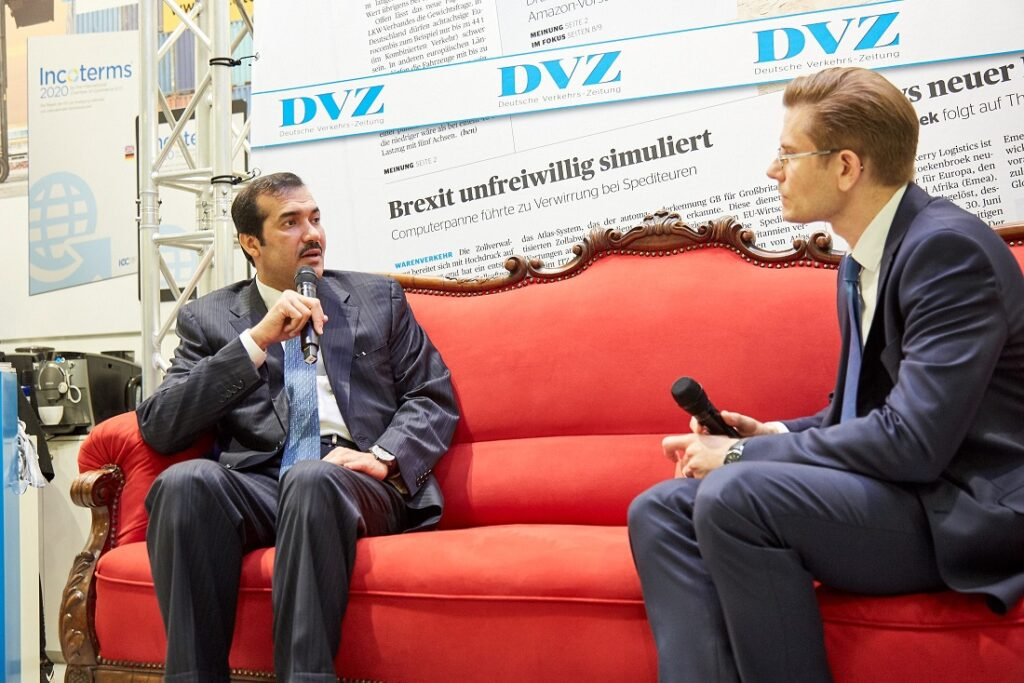 "Chairman's ""Red Sofa"" interview with DVZ at Transport Logistics Exhibition"