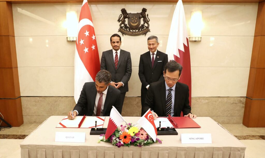 Qatar and Singapore sign MOUs to enhance investment ties
