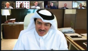 HE Ahmad Al-Sayed Minister of State and Chairman of QFZA participates in a webinar organized by the U.S. Chamber of Commerce